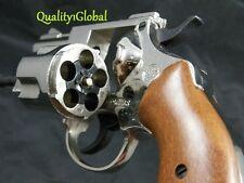 "ITALY 3D CHROME METAL 2.5"" MOVIE PROP Pistol Replica Gun 38 S&W SPECIAL COLT"
