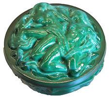 Dose, geformt, in Jadeglas - Aktmotiv zwei Frauen AE 613