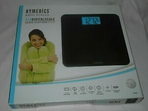 Homedics 410 Digital Scale Glass 400lb Capacity New with Batteries
