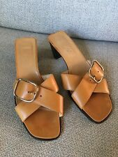 Hermes in pelle fibbie incrociate fibbia sandali taglia 39
