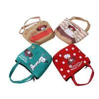 Women Fashion Mini Tote Linen Zip Wallet Coin Purse Key Pouch Cosmetic Bag kim
