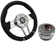 QUICK RELEASE BLACK V2 SPORTS STEERING WHEEL 310mm 6x70mm - MG