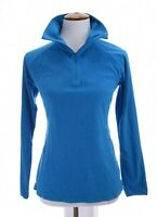 Columbia Womens 1/2 Zip Pullover Top Glacial Fleece III Blue Sz Medium