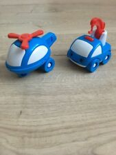Doll Cars Helicopter & Tow Truck Figure Car Vehicle- NWOB