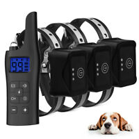 800m Remote Control Electric Dog Training Collar Pet Trainer for 1/2/3 Dogs