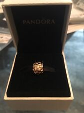 """New Rare Retired PANDORA 14K GOLD """"LOTS OF LOVE"""" CHARM - 750236 ALE/585"""
