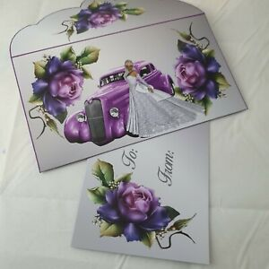 Handmade wedding card/money wallet/Envelope pocket/ voucher/ matching card