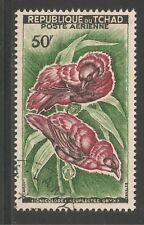 Chad #C2 (AP1)  VF USED - 1961 50fr Red Bishops - Birds In Pairs