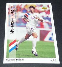 MARCELO BALBOA US SOCCER FOOTBALL CARD UPPER DECK USA 94 PANINI 1994 WM94
