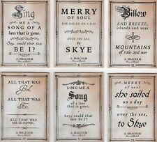 Outlander season 3 - 6 card Skye Boat Song set (Q1 - Q6)