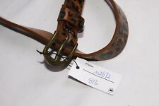 Womens Skinny Jeans Brown Casual Belt with Black Animal Print  (S343)