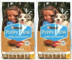 (2) Purina Puppy Chow Healthy Start Nutrition Natural Vit & Mineral Dry 3.8 Lbs