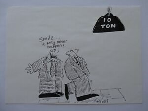 Original Signed Drawing/Cartoon Dentistry Theme - Neil Kerber