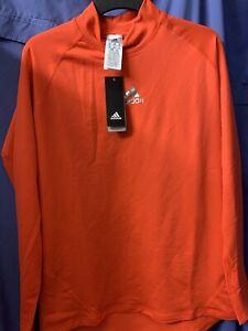 BNWT Adidas Climawarm Orange Long Sleeve Top.  Sz 2XL