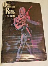 Original 1987 Randy Rhoads Tribute Guitar Music Poster Ozzy Osbourne
