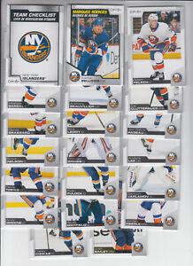 20/21 OPC New York Islanders Team Set w/RC + Insert - Varlamov Lee Bellows RC +