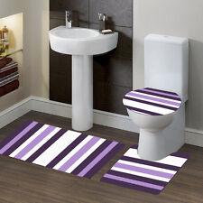 STRPE STYLE MIX COLORS BATHROOM SET BATH RUG CONTOUR MAT TOILET LID COVER #7