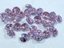 Perline sfuse di strass rosa rotondi