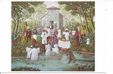 African American Vintage Art Print TAKE ME TO THE WATER Baptism 5.5X8 King 1993