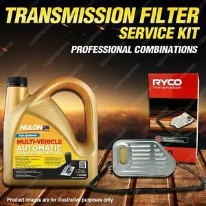 Ryco Transmission Filter + Full SYN Oil Kit for Nissan Navara D21 D22 4CYL V6