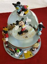 Disney Snowglobe MICKEY MOUSE FILM Star Clubhouse March Song. VERY GOOD!!