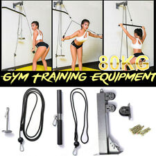 DIY Pulley Cable Machine System Training Triceps Bicep Shoulder Chest