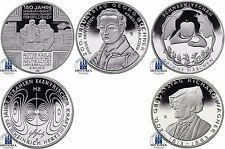 5 x 10 Euro Deutschland Komplettserie Silber Gedenkmünzen 2013 Spiegelglanz