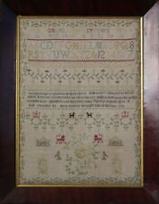 Antique Sampler, 1781, By Mary Cannon