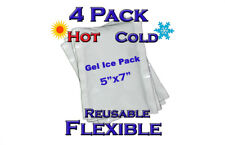 "Therapeutic Ice Pack Hot / Cold Reusable Flexible 5"" x 7"" microwaveable  4 pack"