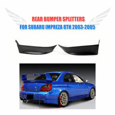 Black Rear Flaps Bumper Bar Splitters Lip Spoiler for Subaru Impreza WRX 2003-05
