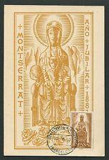 SPAIN MK 1958 MADONNA MONTSERRAT MAXIMUMKARTE CARTE MAXIMUM CARD MC CM d4321