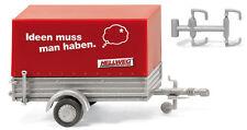 """Wiking Spur HO 05602 PKW - Anhänger mit Pritsche / Plane  """"Hellweg"""" - OVP NEU"""