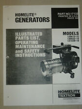 HOMELITE GENERATOR PARTS LIST MANUAL 129A15-1C 130A22-1D 131A30-1D # 17132