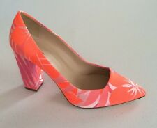 Jcrew Ava Printed Pumps Women's 6.5 Italy New $298 A5286 Shoes Neon Pink Multi