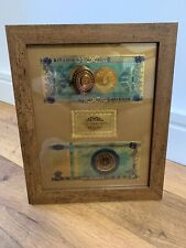Bitcoin (BTC) Cryptocurrency 'Gold' Banknote Frame