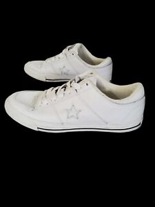 CONVERSE ONE STAR OX White Leather Size 10.5