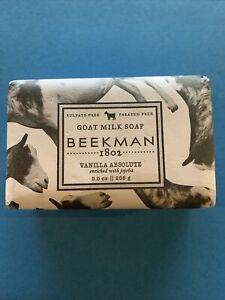 New Beekman 1802 Goat Milk Soap Jumbo Size Bar 9 oz - Vanilla Absolute