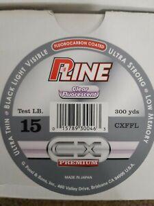 P LINE CX PREMIIUM CLEAR FLUORESCENT 300 YDS LINE FLUOROCARBON COATED SALE SALE