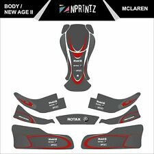 NEW AGE II MCLAREN FULL KART STICKER KIT - KARTING - OTK - EVK -CRG