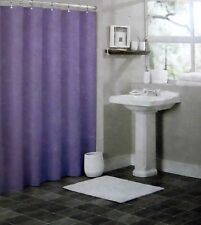 SOLID PURPLE BATHROOM VINYL PLASTIC SHOWER CURTAIN LINER WITH METAL GROMME