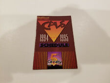 Oklahoma City Cavalry 1994/95 CBA Basketball Pocket Schedule - Mazzio's Pizza