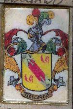Héraldique BROCHES métallique du nom de famille : GALLARDO