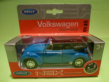 WELLY - VOLKSWAGEN BEETLE CABRIOLET  1:38?  - GOOD CONDITION   IN ORGINAL BOX