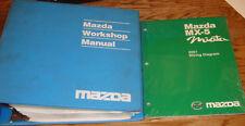 Original 2001 Mazda MX-5 Miata Shop Service Manual + Wiring Diagram Set 01