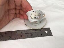 """Vintage Miniature Japan cup and saucer """"Just Married"""""""