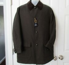NWOT Brooks Brothers Mens M Car Coat Brown Corduroy Collar Fabric Woven In Italy