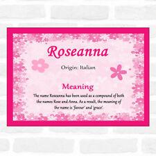 Roseanna nom signifiant ROSE Certificat
