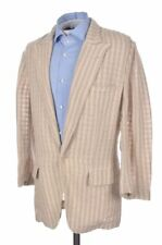 Dolce & Gabbana Beige Shadow Striped 100% Linen Blazer Sport Coat Jacket - 38 S
