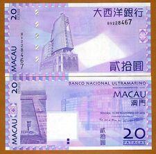 RS-Prefix UNC P-59 59d BNU Macao // Macau 10 Patacas 1984