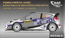 DECALS 1/43 FORD FIESTA WRC - #14 - BREEN - RALLYE ADAC ALLEMAGNE 2014 - D43348